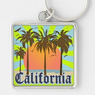 California Beaches Sunset Key Ring