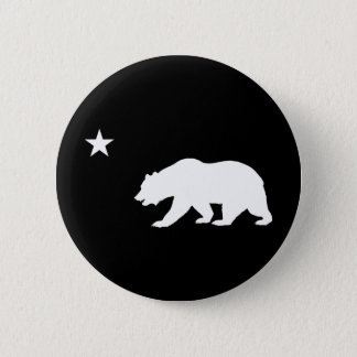 California Bear 6 Cm Round Badge