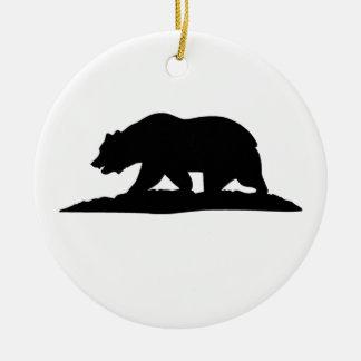 California Bear Christmas Ornament
