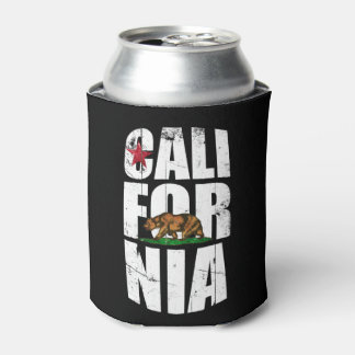 California Bear Flag Can Cooler