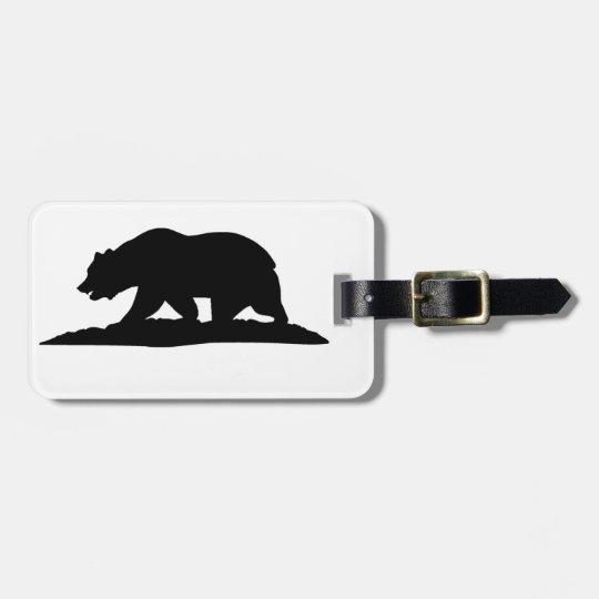 California Bear Luggage Tag