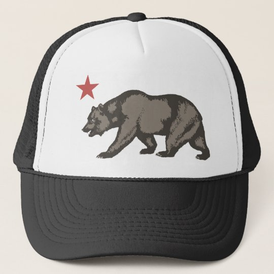 California bear STAR Trucker Hat