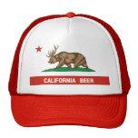 California Beer Bear Deer State Flag Trucker Hat