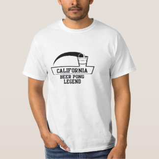 CALIFORNIA 'BEER PONG LEGEND' FUNNY BEER T-Shirt