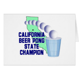 California Beer Pong State Champion Card
