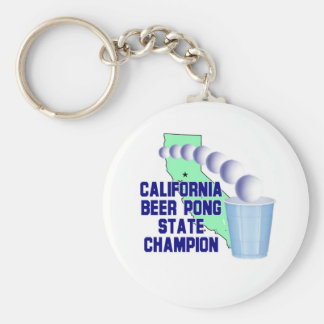 California Beer Pong State Champion Key Chains