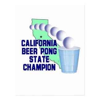 California Beer Pong State Champion Postcard