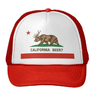 California Beer? State Flag Trucker Hat (red)