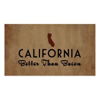 California Better Than Bacon Business Card Template