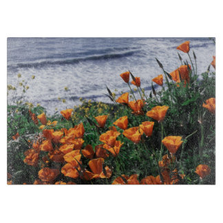 California, Big Sur Coast, California Poppy Cutting Board