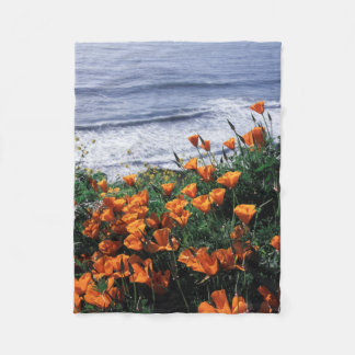 California, Big Sur Coast, California Poppy Fleece Blanket