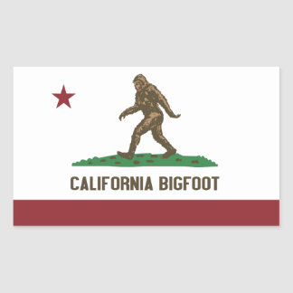 California Bigfoot Rectangular Sticker