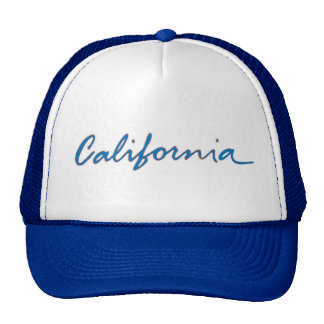 California blue theme local writing hat