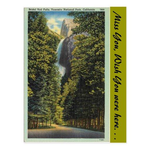 California, Bridal Veil Falls Post Card