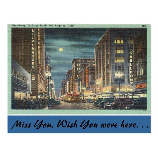California, Broadway, Los Angeles Postcard