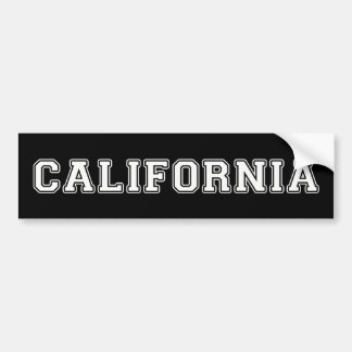 California Bumper Sticker