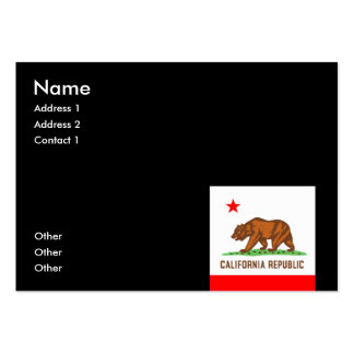 CALIFORNIA LARGE BUSINESS CARDS (Pack OF 100)