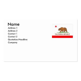 CALIFORNIA BUSINESS CARD TEMPLATE