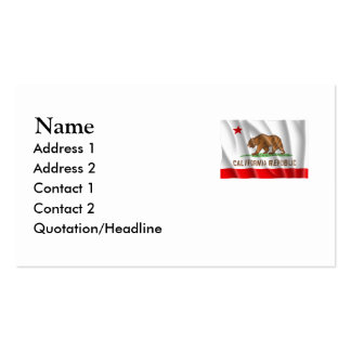 CALIFORNIA PACK OF STANDARD BUSINESS CARDS