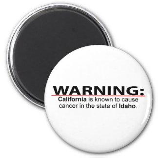 California Cancer - Idaho 6 Cm Round Magnet
