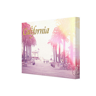 California Stretched Canvas Print