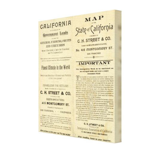 California Stretched Canvas Prints