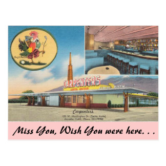 California, Carpenter's Restaurant Postcard