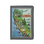 California Cartoon Map Wallets