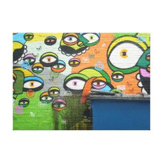 California Casual Venice Beach Graffiti Print I Stretched Canvas Print