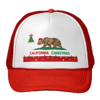 California Christmas Flag Hat