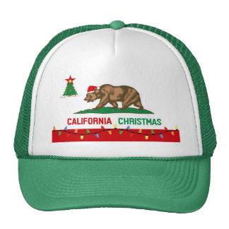 California Christmas Flag Hats