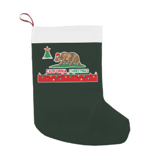 California Christmas Flag Stockings