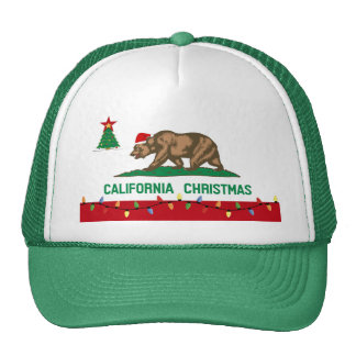 California Christmas Hat (green)