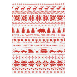 California Christmas Holiday Pattern Tablecloth