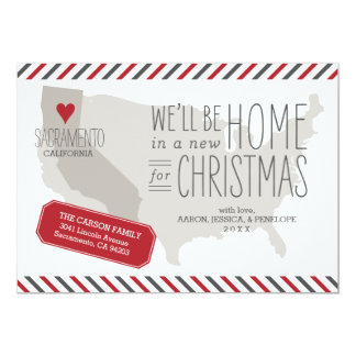 California Christmas Moving Announcement Holiday