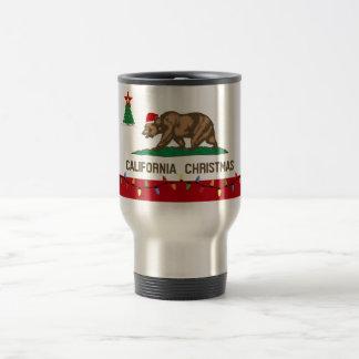 California Christmas Stainless Travel Coffee Mug