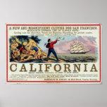 California Clipper Ship Historical Repro Poster