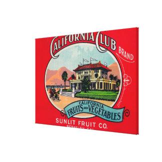 California Club Can LabelBerkley, CA Canvas Print