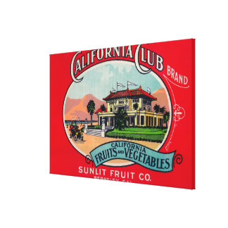 California Club Can LabelBerkley, CA Stretched Canvas Prints