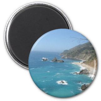California Coast 6 Cm Round Magnet