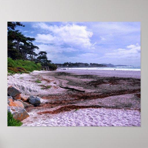 California Coast at Carmel Beach Posters