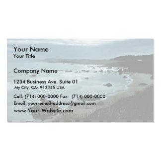 California coast business card template