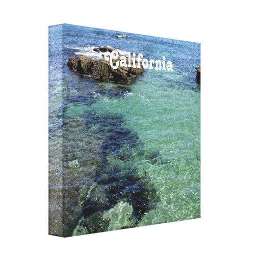 California Coast Stretched Canvas Prints