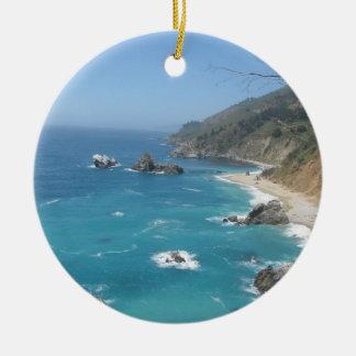 California Coast Christmas Ornament