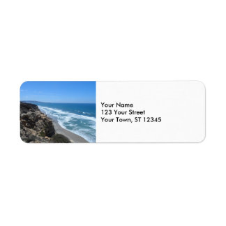 California Coast Return Address Label