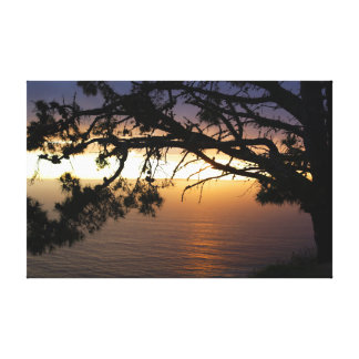 California Coast Sunset Wrapped Canvas Gallery Wrapped Canvas