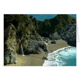 California Coast Waterfall Notecard Note Card