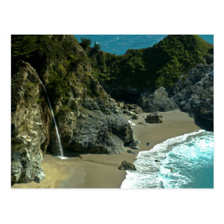 California Coast Waterfall Postcard