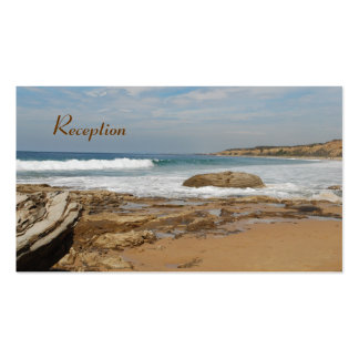 California Coast Wedding Reception Cards Pack Of Standard Business Cards