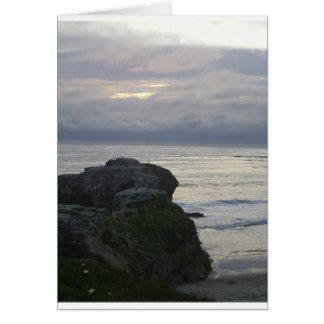 California Coast Winter Sunset Card